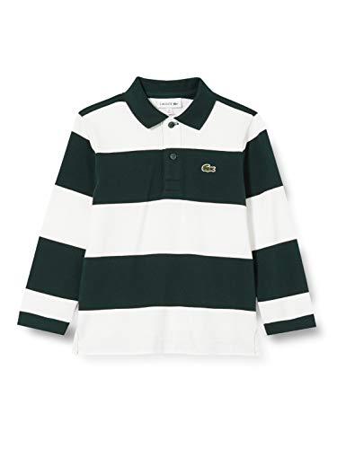 Lacoste Pj3182 Camisa de polo, SINOPLE/FARINE, 5A para Niños