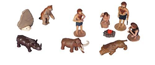 Wild Republic 18408 Ice Age Eiszeit Spielfiguren-Set, Nature Tube, 10-teilig, Multi