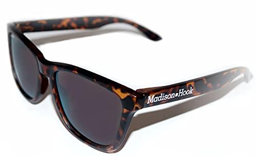 Gafas de Sol Polarizada Adultos Unisex Hombre y Mujer con Montura Marrón Leopard Mate y Lentes Smoke Oscuras