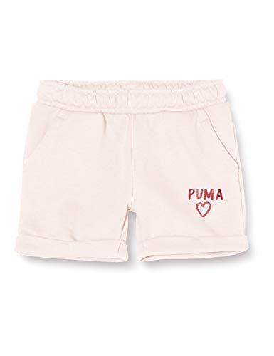 PUMA Alpha Shorts G Pantalones Cortos, Niñas, Rosewater, 176