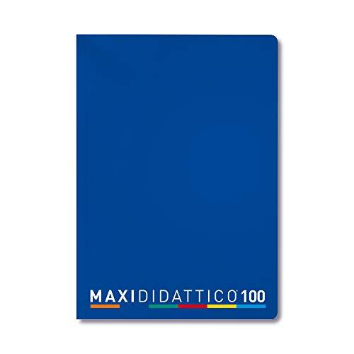 5 Quaderni Maxi Didattico, Blu, Rigatura B, 5 Pezzi