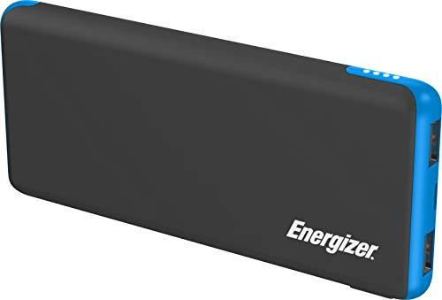 Energizer Max 10000mAh Externer Akku, kompakte Powerbank, Handy Ladegerät [2 Port 2.1A Output] für iPhone 11/11 Pro/11 Pro Max, Xs/Xs Max/XR/X/8/7, iPad, Samsung Galaxy S8/S9/S10 uvm (Blau/Schwarz)