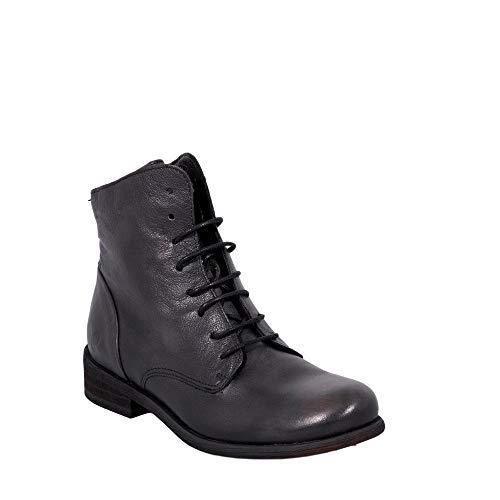 Felmini - Damen Schuhe - Verlieben Bomber 8134 - Reißverschluss Stiefeletten - Echtes Leder - Schwarz - 41 EU Size