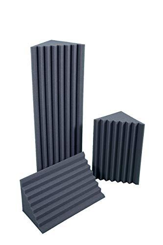 Basstraps Ranurado Absorción De Sonido 25x25x100 D25 Paquete de 4