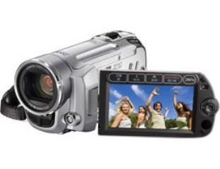 Canon FS10 Camcorder (HDD/SD Hybrid, 8GB, 45-fach opt. Zoom, 6,9cm (2,7 Zoll) Display)