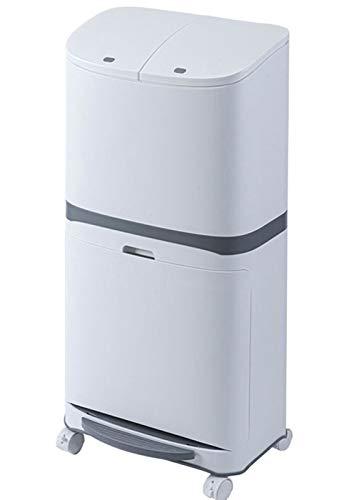 GBHJJ Cubo Basura Reciclaje Vertical, Compartimento con Tapa Abierta Doble Papelera de Reciclaje del Pedal de Basura Clasificado, Capacidad de Basura 30L, para BañO Cocina Oficina Hogar