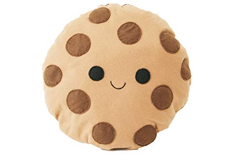 Happy Chocolate Chip Cookie Cushion - Cute Pillow - Smiling Biscuit Pillow - Plush Cookie - Kids Room Decor - Happy Cushion - Cookie Cushion - Cookie Pillow