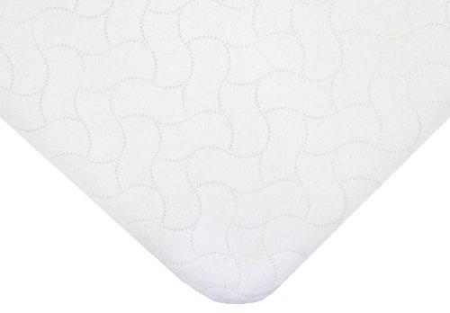 American Baby Company étanche Easy Porta-crib Pad, Blanc, 2 fils