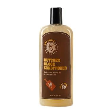 John Taylor Butcher Block Conditioner Food Grade Mineral Oil and Natural Waxes, 12 fl.oz(355ml)