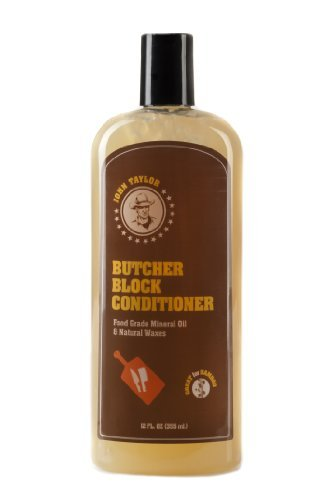 John Taylor Butcher Block Conditioner Food Grade Mineral Oil and Natural Waxes, 12 fl.oz(355ml) by...