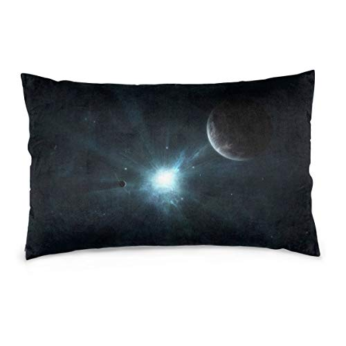 XIEXING Pillow Case Bright-Light-in-Space Printed Pillow Cases Soft Chair Seat Bedding Pillowcase Coffee Shop Home Decor 14'' X20