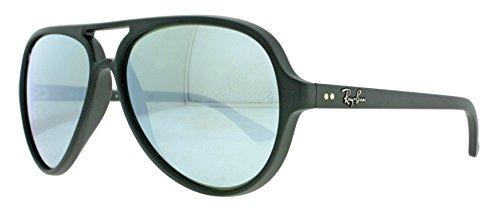 Ray-Ban 5000 601S30 59 Montures de lunettes, Noir (Matte Black/Green Silver), Mixte Adulte