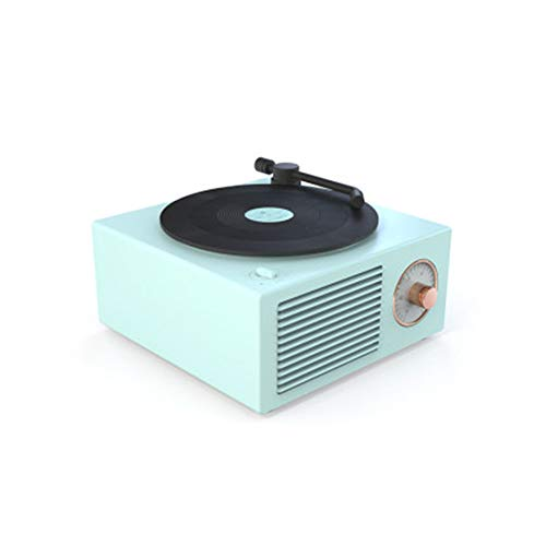CROWNXZQ Kabelloser Bluetooth-Lautsprecher, Atomic Vinyl Retro, multifunktionaler Desktop-Minilautsprecher mit Karte, Geeignet für die Verwendung im Freien mit Einer Autocomputerkarte, Blau