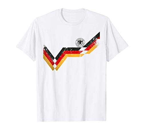 Germany Soccer Jersey Vintage German 1990 Retro Football Top T-Shirt