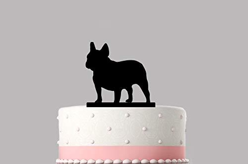 Tortenaufsatz Französische Bulldogge Frenchie Acryl Happy Birthday Kuchen Dekoration Topper verschiedene Farben erhältlich .08