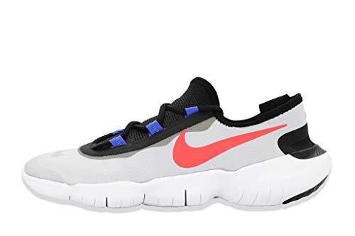 Nike Free RN 5.0 2020, Scarpe da Corsa Uomo, Pure Platinum Bright Crimson Racer Blue, 42.5 EU