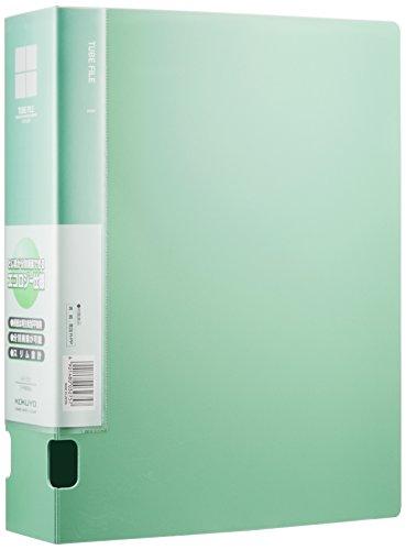 コクヨ ファイル チューブファイル 発泡PPシート表紙 A4 2穴 600枚収容 緑 フ-F660NG