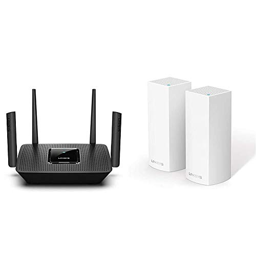 Linksys MR9000 Tribanda Mesh Router Wi-Fi + WHW0302 Sistema Velop WiFi Mesh tribanda para Todo el hogar