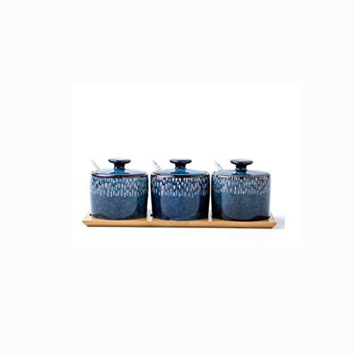 Matao de alta calidad Hogar condimento botella, tarro de cerámica creativa Condimento Condimento caja Utensilios de cocina condimento Tanque