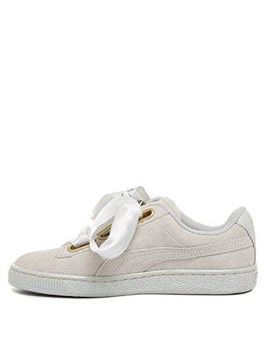 Puma scarpe da ginnastica Heart Safari in pelle scamosciata da donna, Grigio (Grey Violet Satin), 40 EU