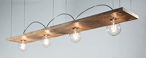 Lumières de juge - Lumières LED - Abri de jardin Pro100 - Chêne brossé légèrement blanc huilé - Avec ampoule LED à filament - 6 W - Transparent - Intensité non variable