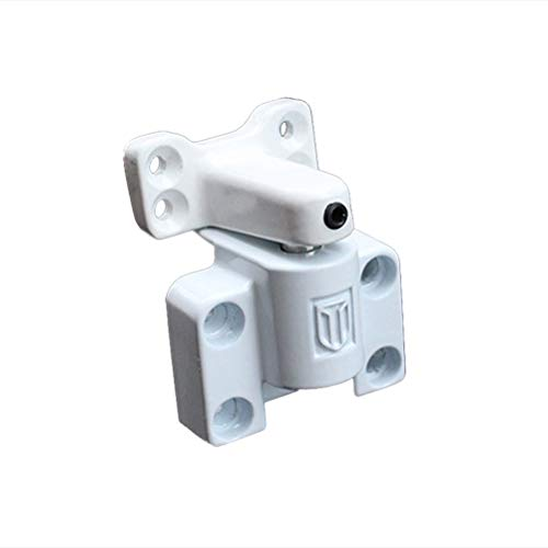 BESTOMZ Cerradura con Llave Deslizante para Ventana Puerta de Aluminio Acero Inoxible para Protección de Seguridad Antirrobo (Blanco)