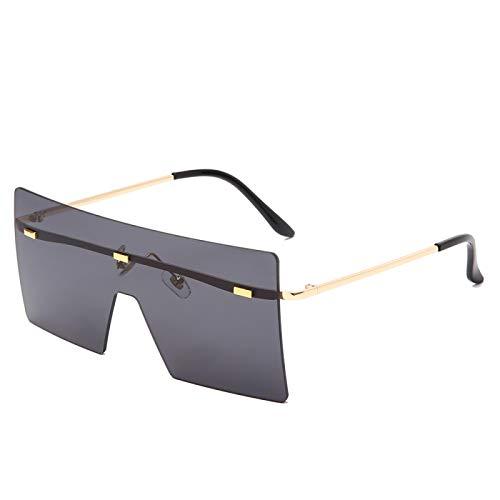 NJJX Gafas De Sol Sin Montura De Gran Tamaño, Gafas De Sol Con Degradado De Metal A La Moda Para Mujer, Gafas De Sol De Lujo Para Mujer, Sombras 01