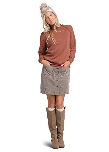 Prana Damen Sweatshirt Cozy Up, Damen, Cozy Up Sweatshirt, Chai Heather, Large