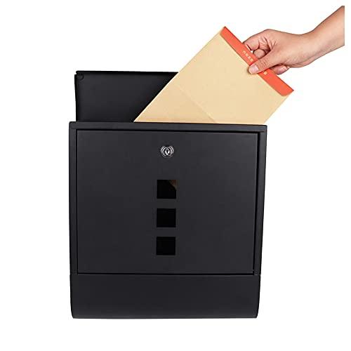 TPLIK Caja de Posta montada en la Pared Buzón galvanizado de Metal...