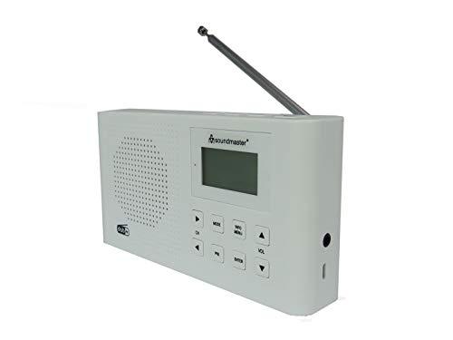Soundmaster DAB160WE DAB+/UKW Digitalradio Li-Io-Akku Kopfhörerbuchse