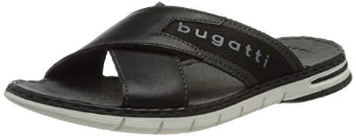 bugatti Herren 311A32811069 Flache Sandale, black/black, 46 EU