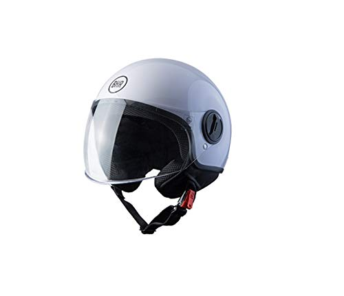 BHR Helmets 808First - Casco Moto Unisex - Adulto, bianco, M