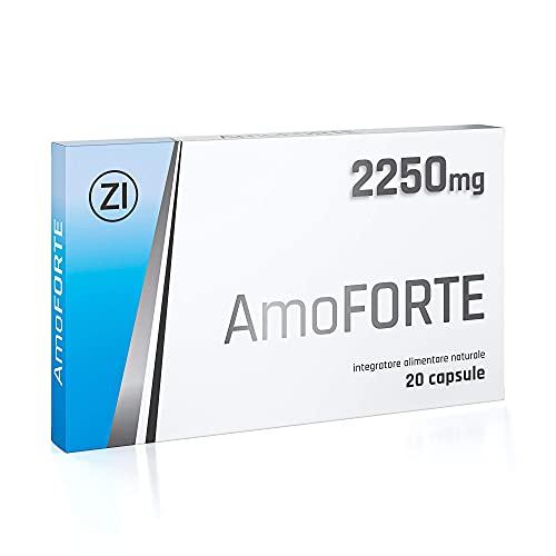 Amoforte 2250 MG | Sin Ninguna Contraindicación | Energizzante Naturale con Tribulus, Maca, Ginseng y L-Arginina | Made In Germany | 20 Cáps.
