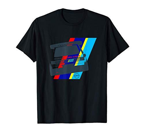 Coche de rally 205 T16 Grupo B Coche de carreras clásico Camiseta