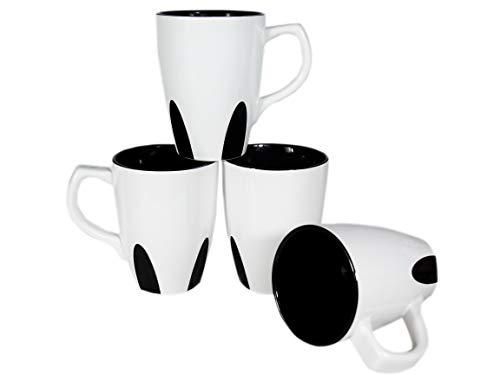 Bycnzb Coffee Mug set of 4 Ceramic Cup Mug for Coffee, Tea, Juice, Cocoa Beautiful design 16oz