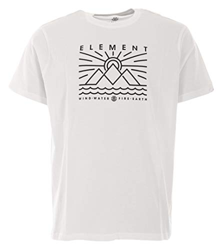Element Oddie SS T-Shirts, Chemises et Polos Homme Optic White FR : M (Taille Fabricant : M)