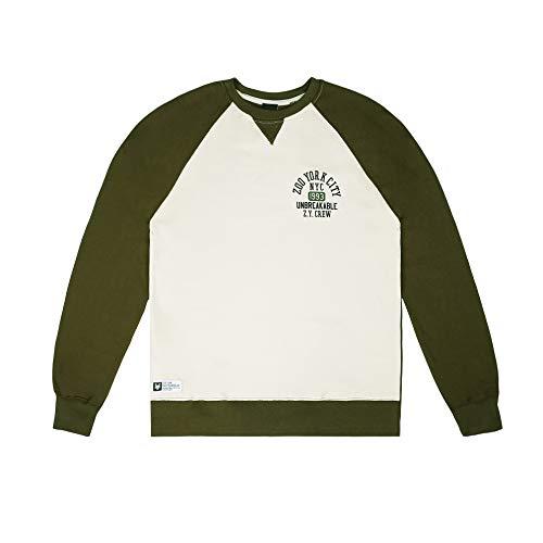 Zoo York Herren Nyc93 Sweatshirt, Grün (Olive/Light Bone Olb), X-Large
