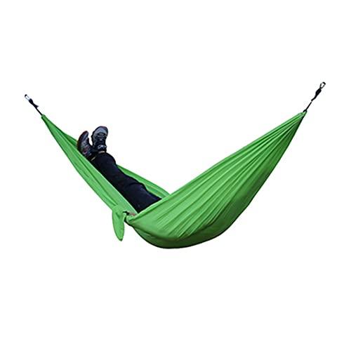 TabloKanvas Hamaca doble portátil con 2 correas de árbol de nailon para paracaídas para mochileros (color verde claro verde)