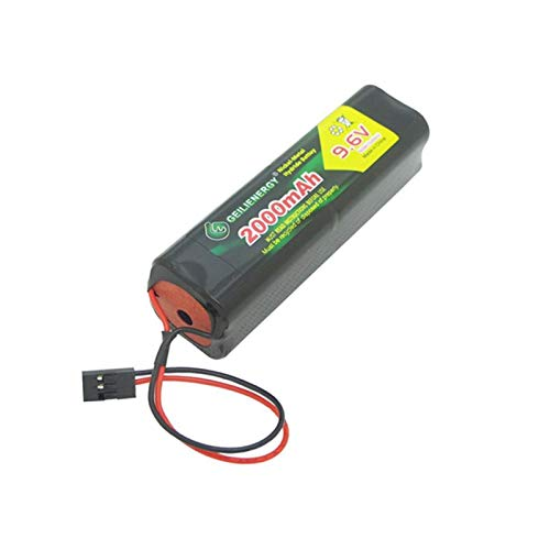 BAOBIAN 9.6v 2000mAh Square Futaba NT8S600B Transmiter Battery Pack with Hitec Connector for RC Airplanes,Cars,Heli,Sailplanes (Pack of 1)