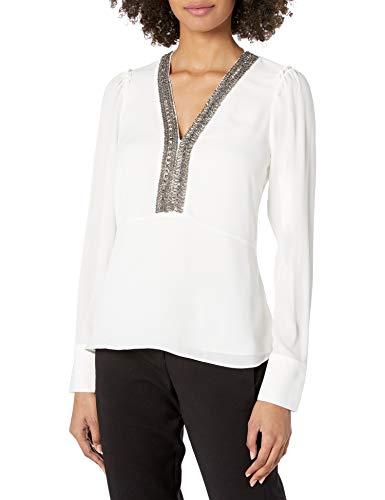 Bailey 44 Damen Dalia Embellished Top Hemd, eierschalenfarben, Klein