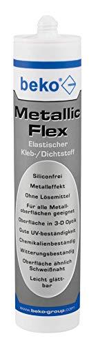 BEKO BEK-2473051 Flex 305 g metallic Silber Elastischer 1-Komponenten Kleb-/Dichtstoff