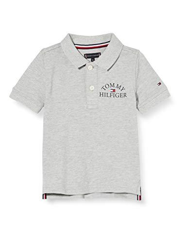 Tommy Hilfiger Jungen Essential Logo Chest Polo S/s Poloshirt, Grau (Light Grey Heather Bc04 Vol32 P01), Jahre (Herstellergröße: 10)