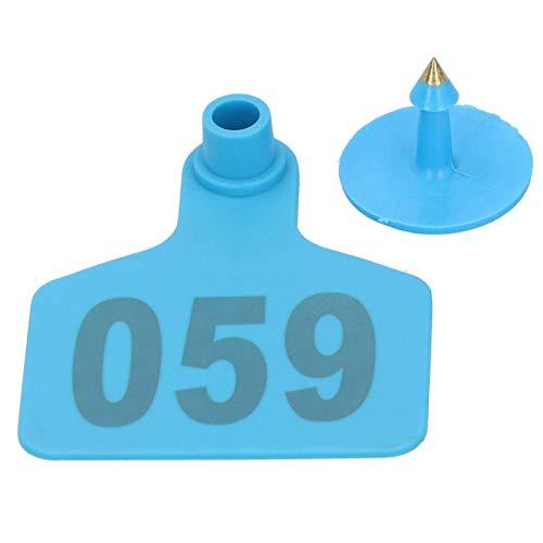 Ladieshow 001‑100 Número Etiqueta de plástico para Ganado Etiqueta de Oreja de Animales para marcar Ganado, Vacas, Animales, Granja, Accesorios