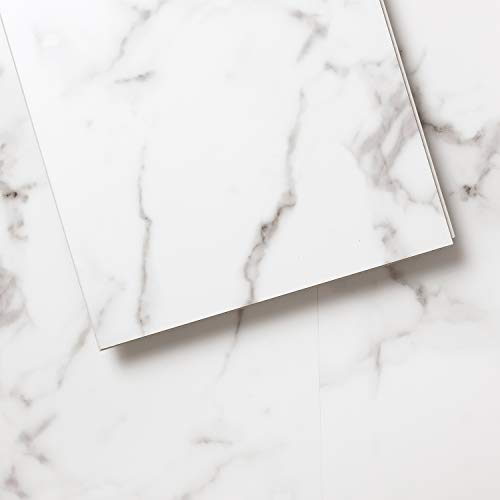 Luxury Vinyl Floor Tiles by Lucida USA | Interlocking Flooring for DIY Installation | 8 Stone-Look Planks | TerraCore | 16 Sq. Feet Arizona