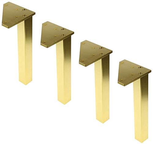 KISAD Patas de Muebles Patas de Mesa de Repuesto Muebles Ajustables Foot Metal Reemplazo Sofá Sofá Mesa de Café Eardober Foot Conjunto de 4 Accesorios de Hardware (Color : Gold, Size : 150mm)