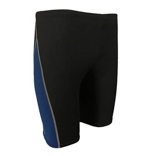 Z.L.FFLZ Nadelanzug Männer Wetsuit Shorts Super Stretch Neopren 1.8mm Warm Hose Rash Guard-Badeanzug for Schwimmen Surfen Tauchen Schnorcheln (Color : Dunkelblau, Size : M Blue)