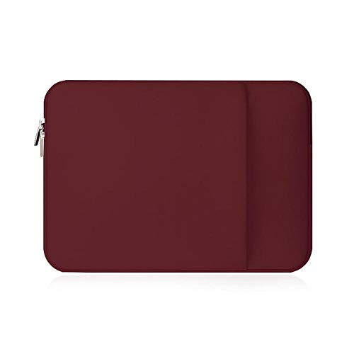 Laptop Sleeve 11 12 13 14 15 15.6 inch ntebook case Soft Bag for acbook Air Pro Retina Tablet Pocket-Wine-Red_Set_for Surface Book 13