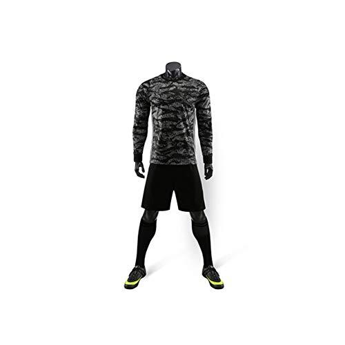Ropa de entrenamiento de fútbol para hombres y mujeres adultos de primavera de camuflaje jersey, los niños de deporte traje de fitness entrenamiento de fútbol ropa de entrenamiento de poliéster material (3XS-4XL), 123, 123, color negro, tamaño extra-small