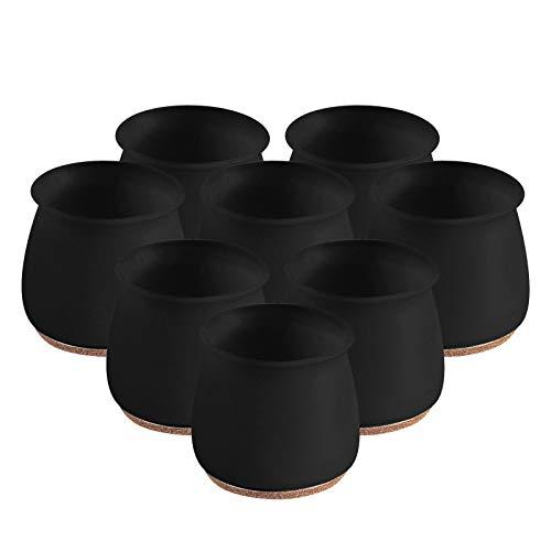 Protectores de suelo para sillas y sillas de silicona para patas de sillas y protectores de suelo de mesa de silicona para patas de muebles, protectores de suelo de madera antideslizantes