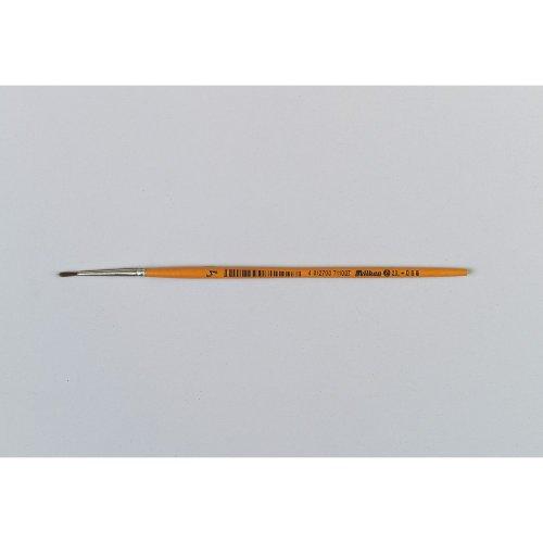 Pelikan 711002 pinceau d'artiste - Pinceaux d'artiste (Single brush, Brosse ronde, Crin de poney, Bois, Orange, Brosse ronde)